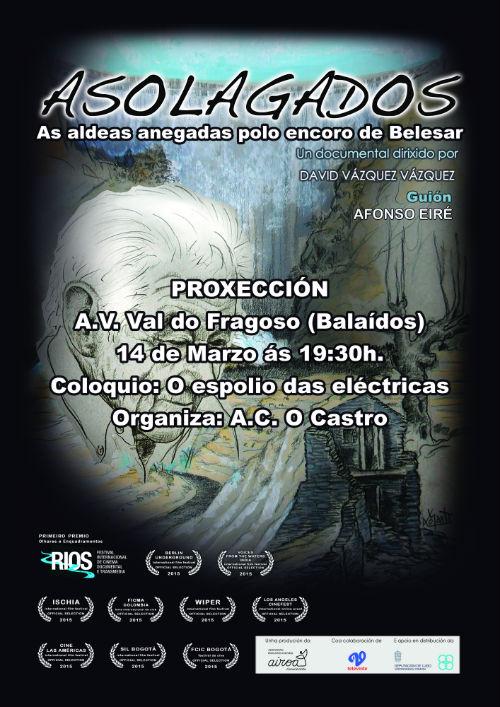 Vigo acolle a proxección de 'Asolagados', un documental que conta que foi dos pobos que hai baixo o encoro de Belesar