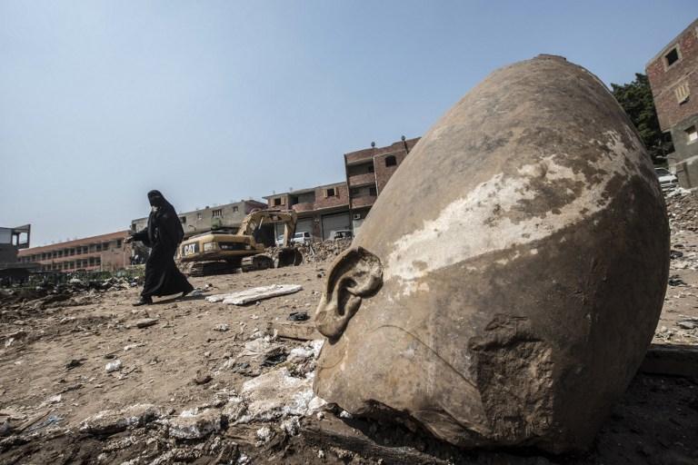 Descubren una estatuta de Ramsés II de 3.000 años de antigüedad en El Cairo