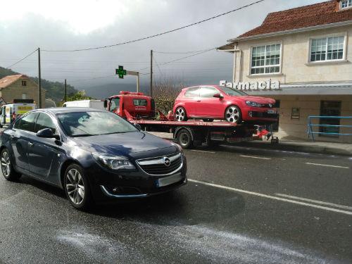 Retenciones en la carretera entre Vigo y Redondela a causa de un accidente