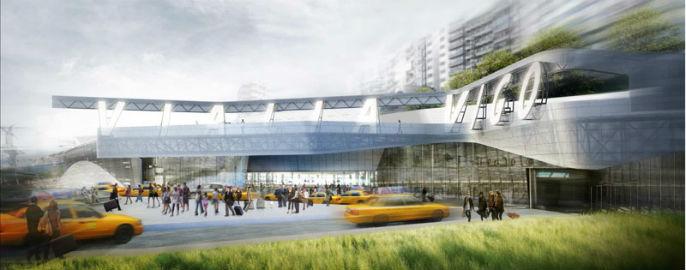 ADIF comunica al Concello que se hará sobre la Estación de Urzáiz el 'centro Thom Mayne' de, al menos, 90.500 metros cuadrados