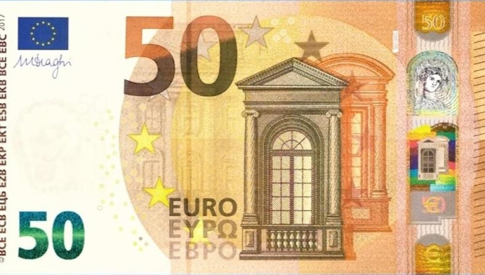 Este martes empieza a circular el nuevo billete de 50 euros