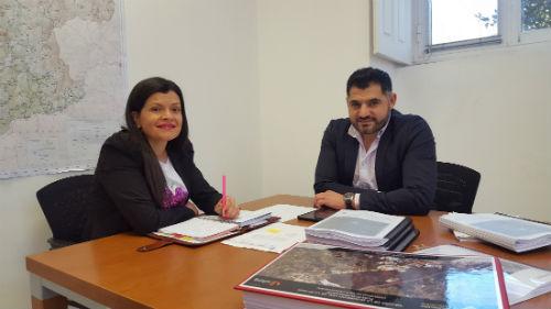 A alcaldesa de Mos presenta á Deputación a necesidade de mellora da estrada EP-2601 que vai a Puxeiros