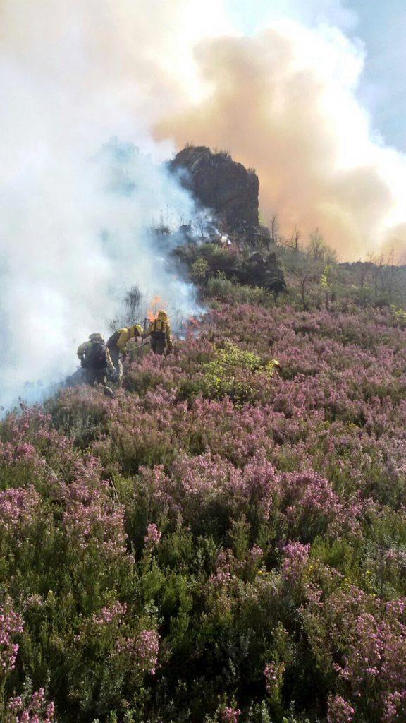 Estabilizado el incendio de Carballeda de Valdeorras tras arrasar 100 hectáreas