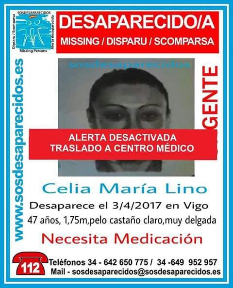 La vecina de Vigo que llevaba diez días desaparecida está ingresada en el Cunqueiro desde este martes