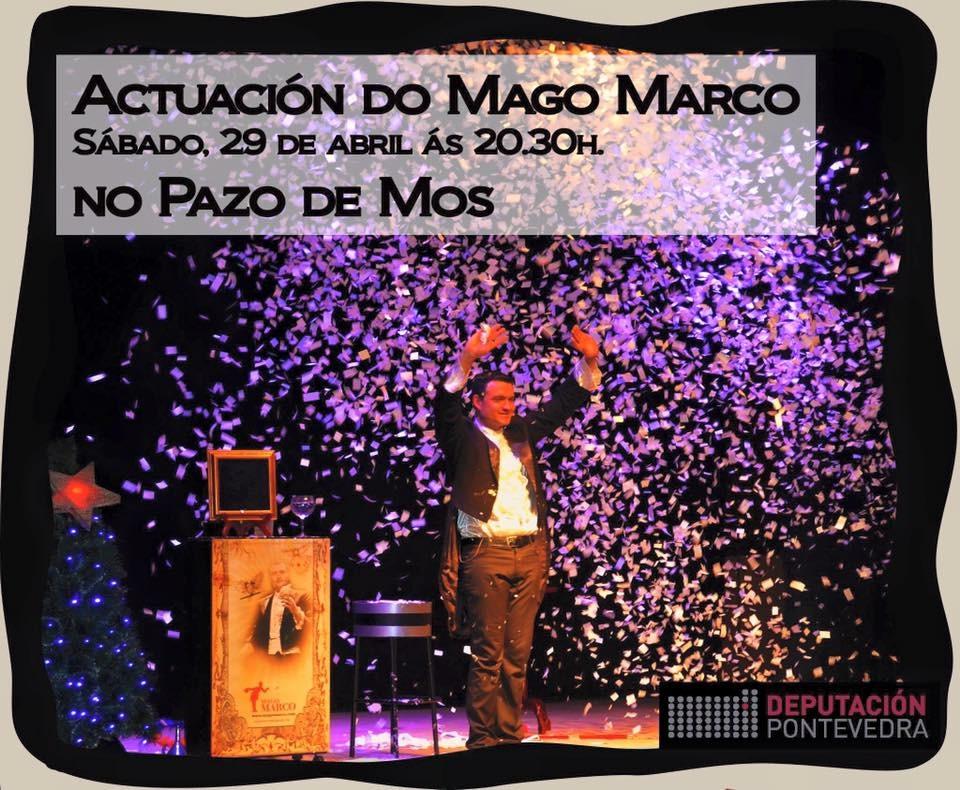 El genial Mago Marco, este sábado en el Pazo de Mos