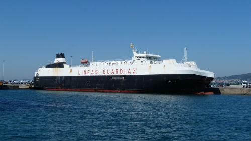 Primera escala del buque que unirá Vigo y Tánger a través de la Autopista del Mar