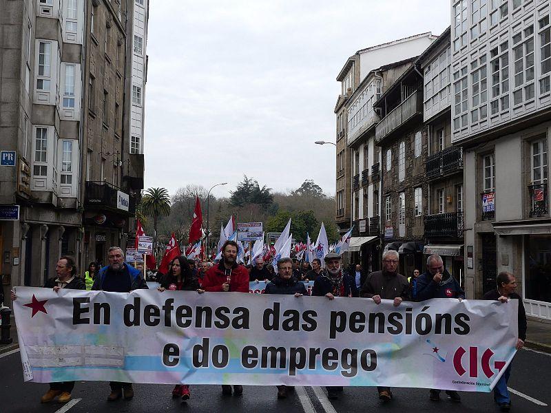 O colectivo de pensionistas sairá este mércores á rúa en Pontevedra, Santiago, Ferrol, Lugo e Vigo