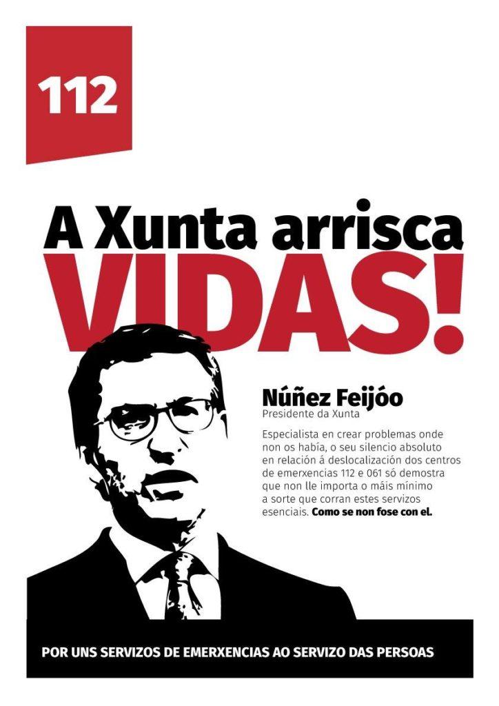 Traballadoras e traballadores do 112 Galicia seguen coas súas protestas mañá,tarde e noite