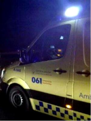 Cuatro heridos en un accidente en la carretera de Cangas a Aldán
