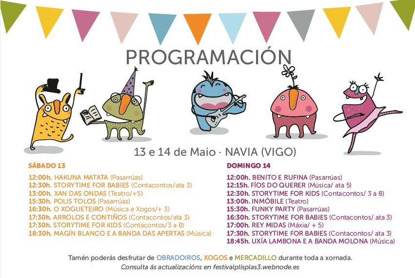 Plis Plas Festival, o sábado 13 e domingo 14 de maio, en Navia