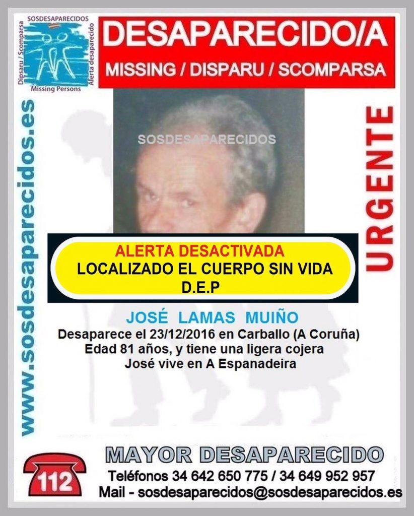 Encontrado sin vida el anciano que había desaparecido de su casa en Carballo el pasado mes de diciembre