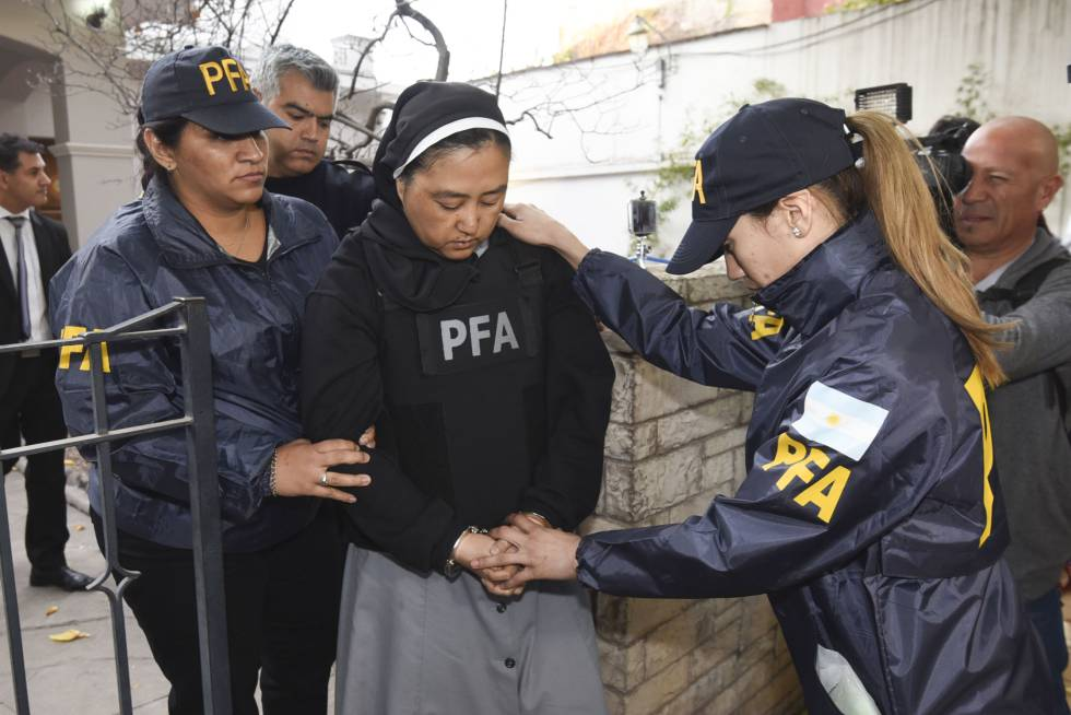 Detienen en Argentina a una monja acusada de facilitar menores a curas para que abusasen de ellos