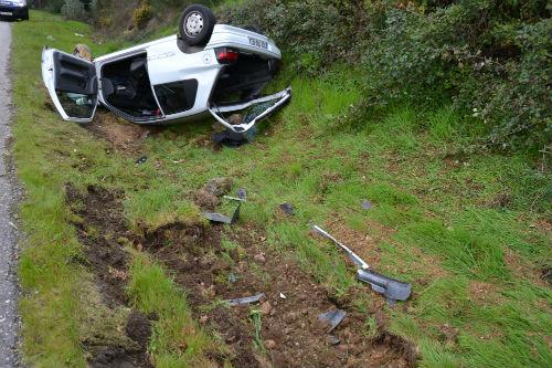 92 persoas feridas nunha fin de semana sen mortos nas estradas galegas