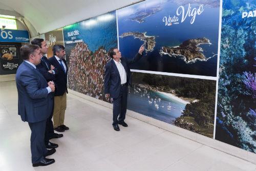 Vigo 'invade' Madrid con la imagen de la candidatura de las Islas Cíes a Patrimonio de la Humanidad