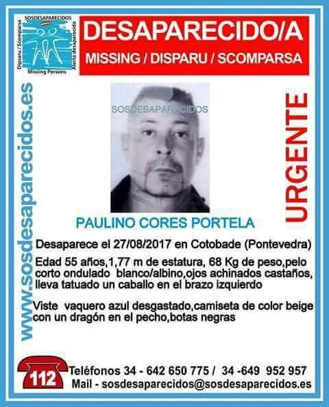 Buscan a un hombre de 55 años desaparecido en Cotobade