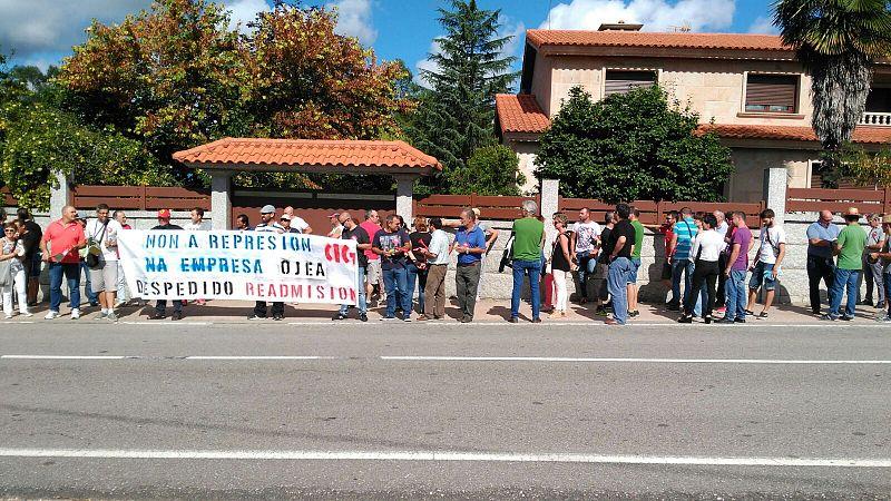 Nova protesta contra o despido dun traballador de Autocares Ojea por ir nas listas da CIG