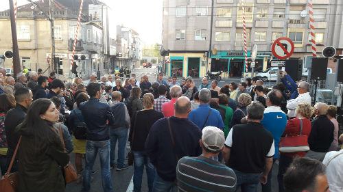 O Porriño lembrou ás vítimas do tren Celta Vigo-Porto, un ano despois da traxedia