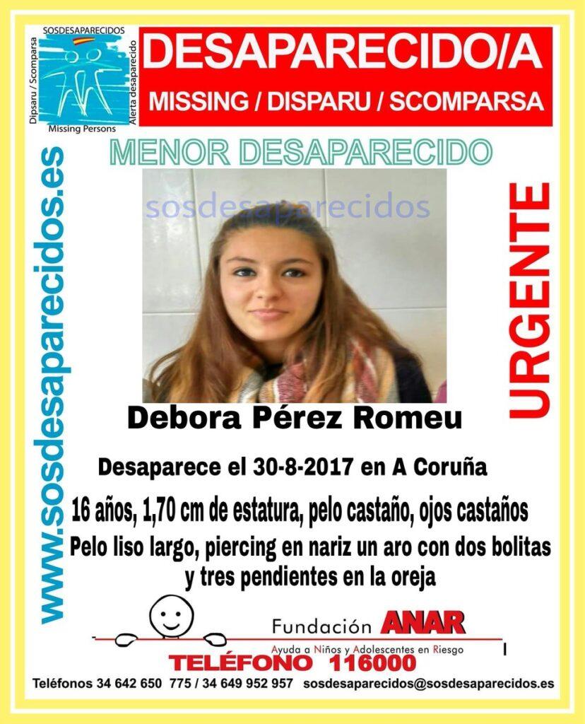 Buscan a una joven de 16 años desaparecida en A Coruña hace 11 días