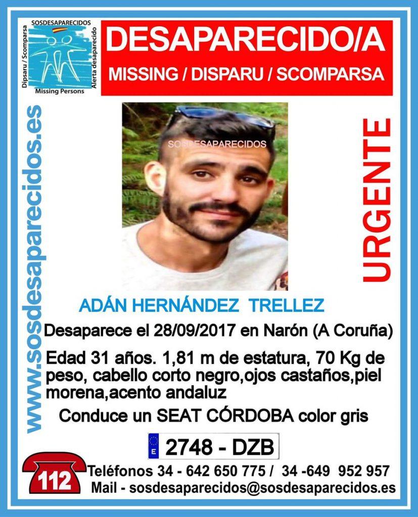 Buscan a un joven de 31 años de edad que desapareció el jueves pasado en Narón