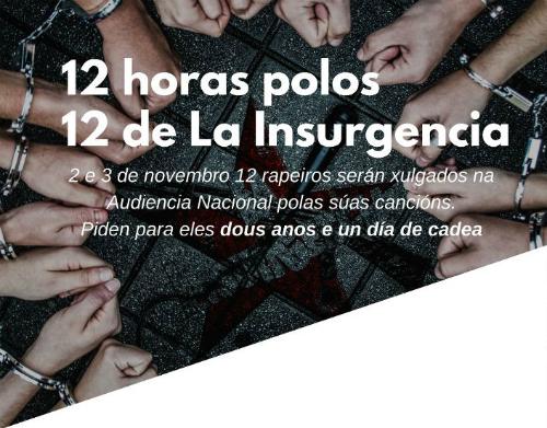 @AsembleaDeCoia 'péchase' este sábado na parroquia Cristo da Vitoria en solidariedade cos integrantes de 'La Insurgencia'