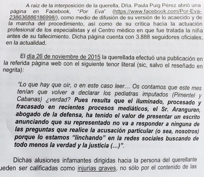 La madre de la niña fallecida en el Modelo de A Coruña denunciada por el abogado de uno de los pediatras