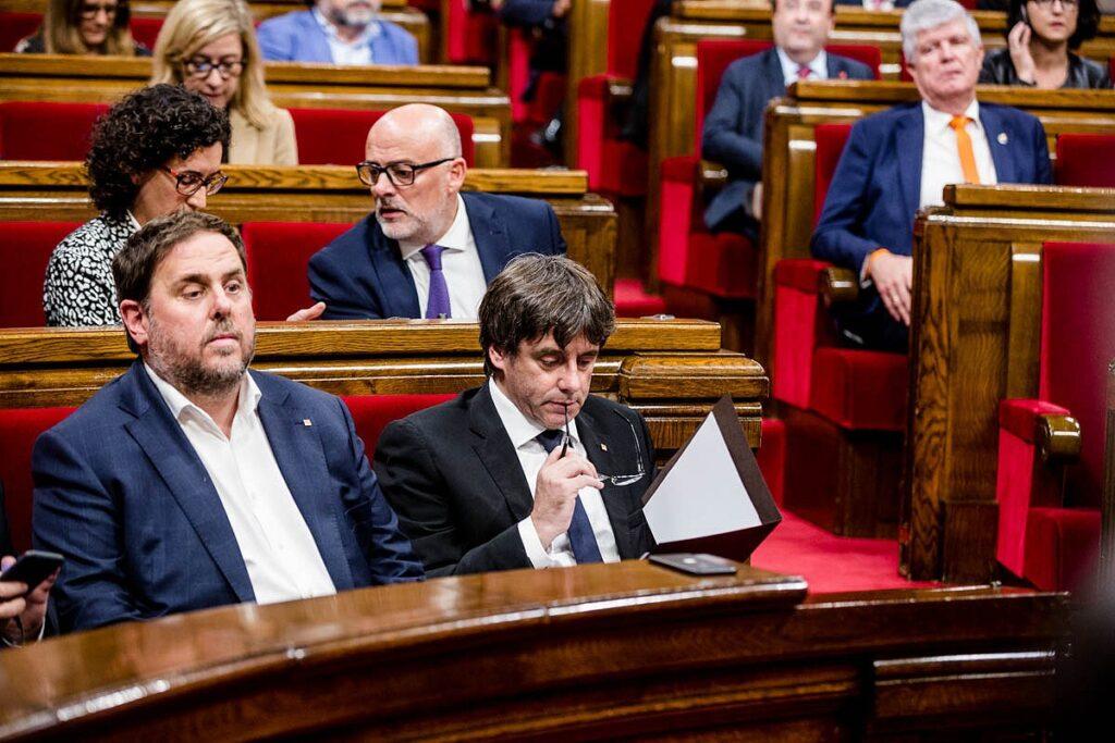 El fiscal general se querellará por el delito de rebelión contra Puigdemont, su Govern, Forcadell y la Mesa del Parlament