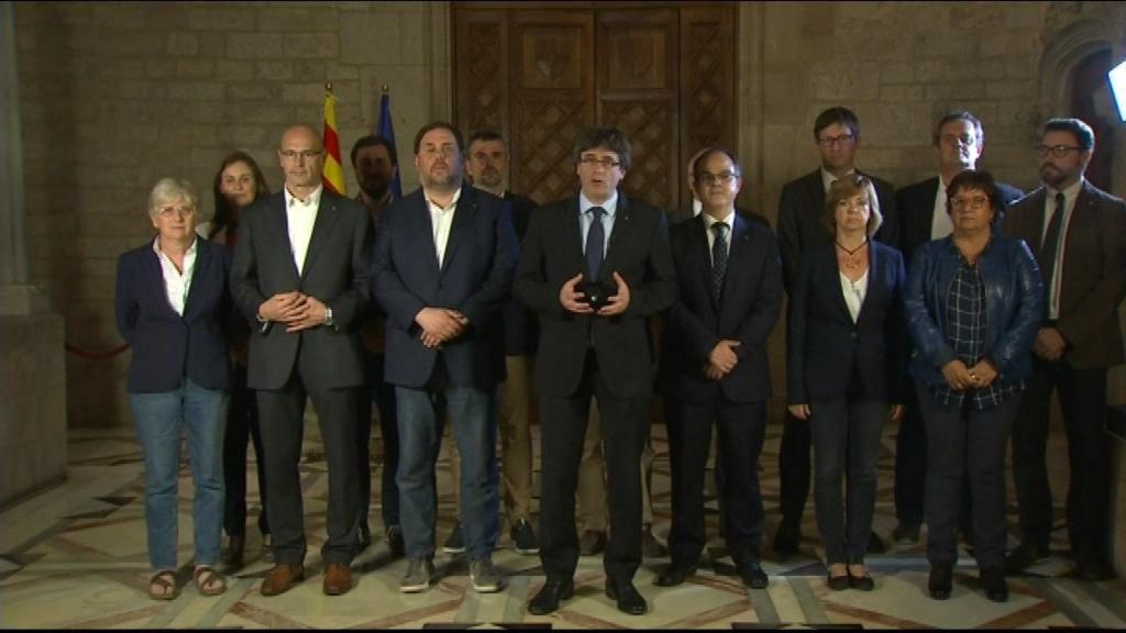 """#1Oct Puigdemont, tras el referéndum, """"nos hemos ganado el derecho a tener un estado independiente"""""""