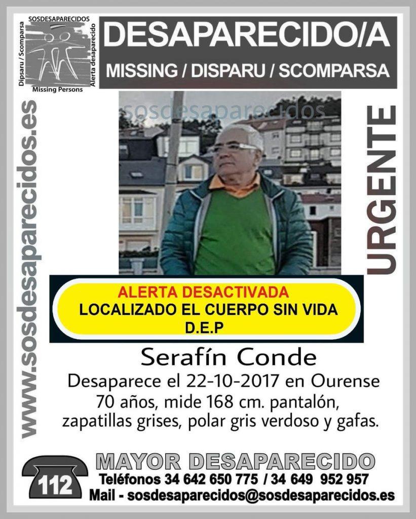 Hallado sin vida el hombre de 70 años que había desaparecido en Ourense el pasado día 22