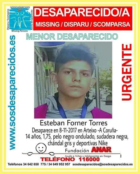 Buscan a un chico de 14 años desaparecido en Arteixo