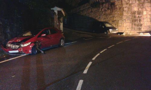 Sufre un accidente en la carretera de Balsa, cerca de la VG-20, y desaparece del lugar del siniestro