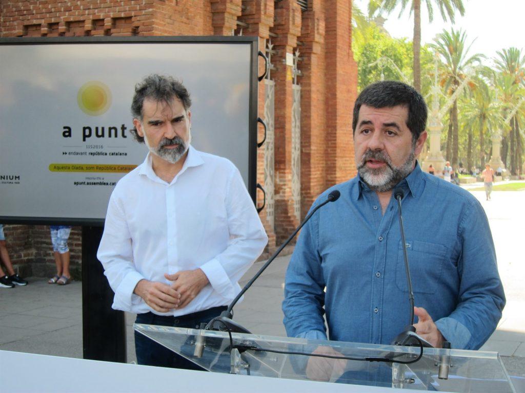 Denegada la libertad a los presidentes de la Asamblea Nacional de Cataluña (ANC) y de Òmnium Cultural