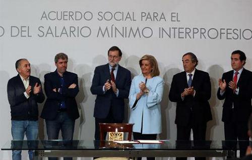 Gobierno y agentes sociales acuerdan subir el Salario Mínimo hasta 2020…si el PIB crece más de un 2,5% y aumenta la filiación en 450.000 personas al año