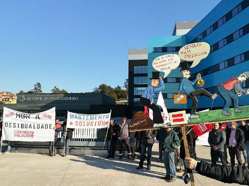 Desconvocada a folga do persoal de mantemento do Álvaro Cunqueiro