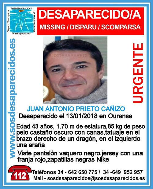 Buscan a un hombre de 43 años que desapareció en Ourense el día 13 de este mes