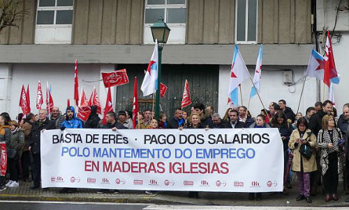200 familias de Mos, Ponteareas, Salvaterra, Vigo ou O Porriño quedarían na rúa se se pecha finalmente Maderas Iglesias