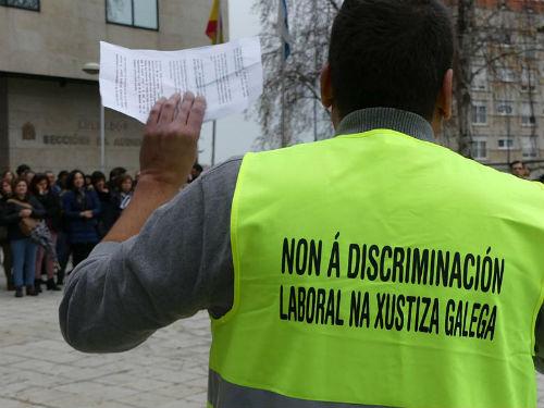 Sigue la huelga total en los juzgados de toda Galicia