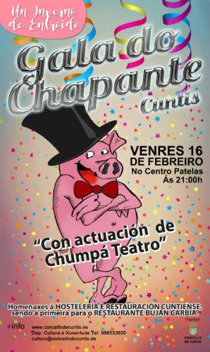 Cuntis celebra este venres, día 16, a 'Gala do Chapante', apenas 48 horas antes da agardada 'Festa do Lacón con grelos'