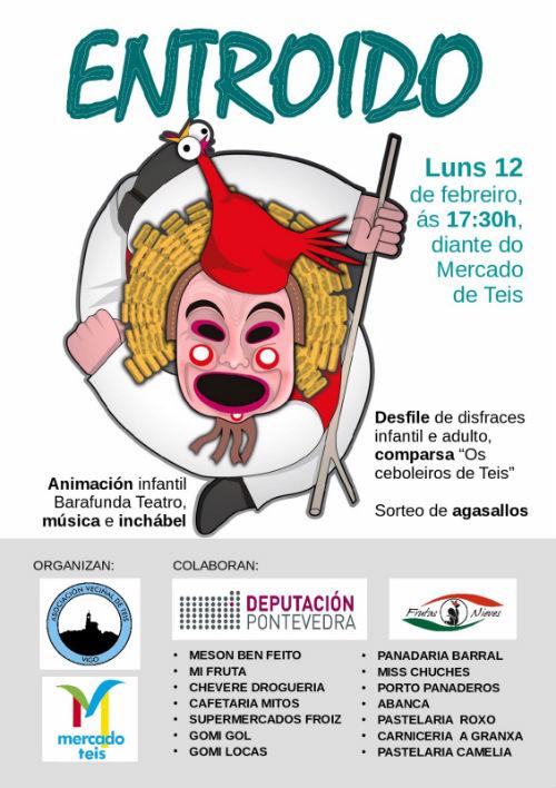 Este luns, día 12, Festa do Entroido en Teis
