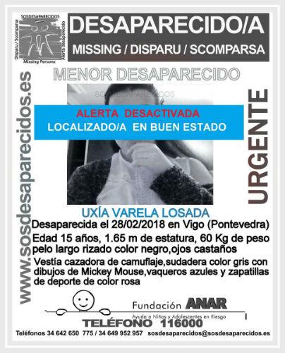 Localizada en buen estado la joven viguesa desaparecida desde este miércoles