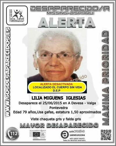 Localizado el cuerpo sin vida de una anciana que había desaparecido de su casa de Valga en junio de 2015