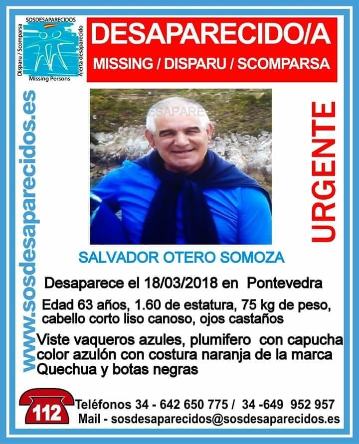 Buscan a un hombre que falta de su casa en Pontevedra desde este domingo