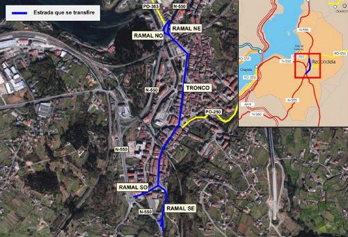 A Xunta transfiere ao Concello de Redondela a travesía interior da vila e os seus ramais de enlace coa N-550