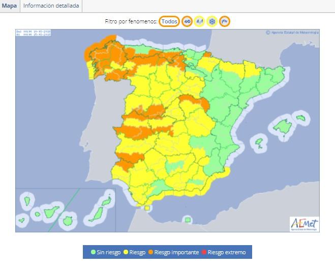 @Xunta ordena suspender este miércoles las actividades exteriores en los colegios por la llegada de la borrasca 'Giselle'