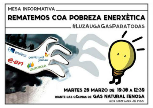 Organizan en vigo diante das oficinas de gas natural for Oficina gas natural getafe