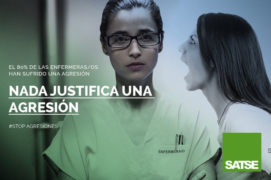 @SATSE_GALICIA inicia una campaña para acabar con las agresiones de las que son víctimas más de 226 integrantes del colectivo de enfermería