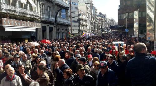 #PensionesDignas Miles de personas vuelven a manifestarse en Vigo por unas pensiones públicas y suficientes para vivir