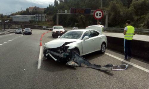 73 feridos en accidentes de tráfico ocorridos nas estradas de Galicia a pasada fin de semana