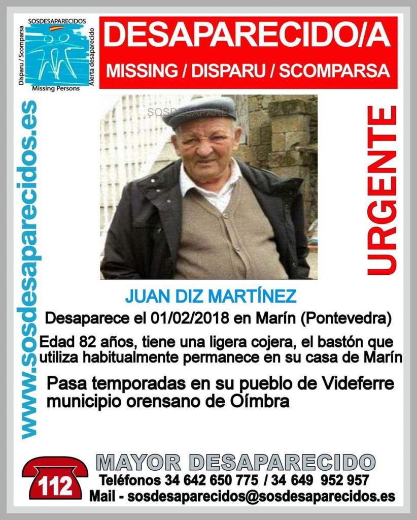 Buscan a un hombre de 82 años de edad que desapareció en Marín el 1 de febrero pasado