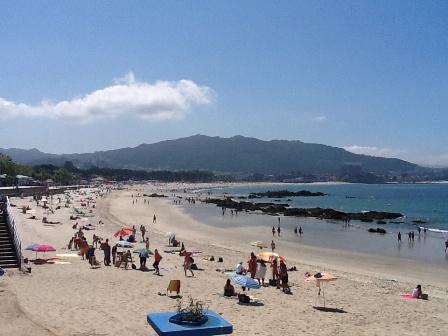 Sol, calor y temperaturas de casi 30 grados en las Rías Baixas