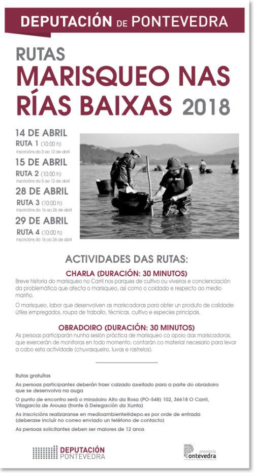 @depo_es pon en marcha catro rutas para coñecer, da man das mariscadoras, o 'Marisqueo nas Rías Baixas'
